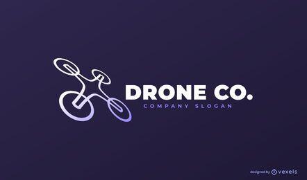 Modelo de logotipo da empresa drone