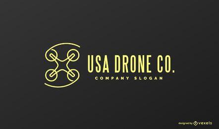 Diseño de logotipo de drone de estados unidos