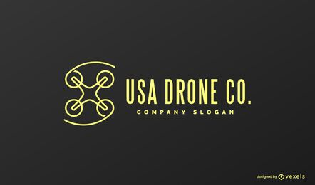 Usa Drohnen-Logo-Design