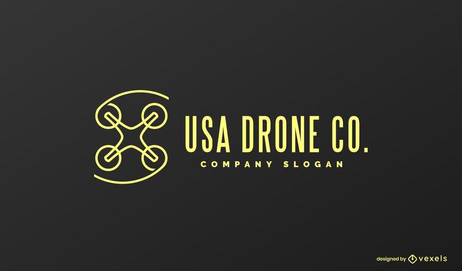 Usa drone logo design