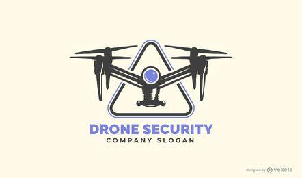 Modelo de logotipo de segurança drone