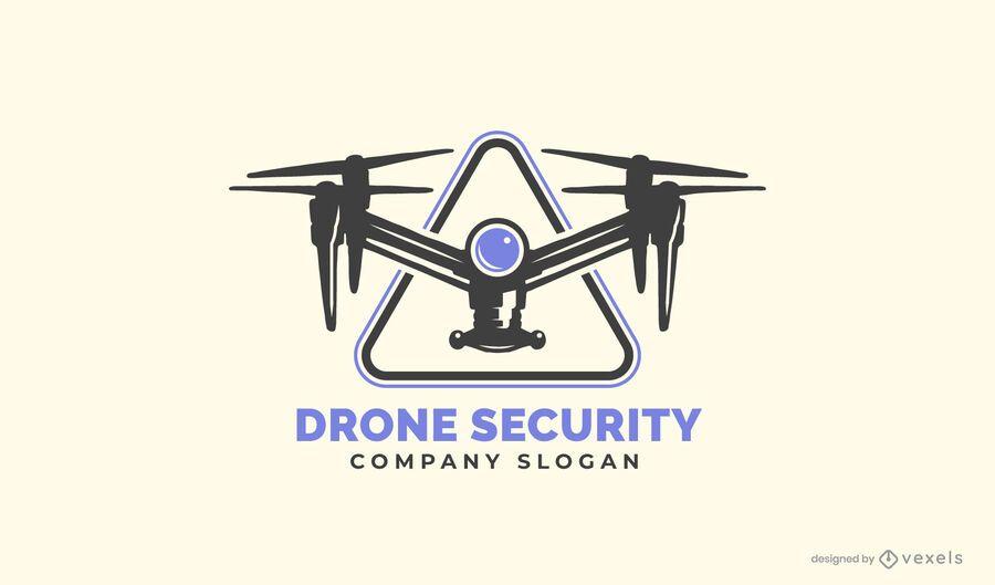 Plantilla de logotipo de seguridad de drones