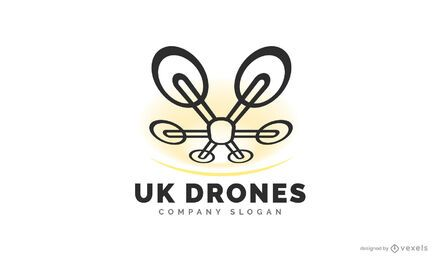 Design de logotipo de drone do Reino Unido