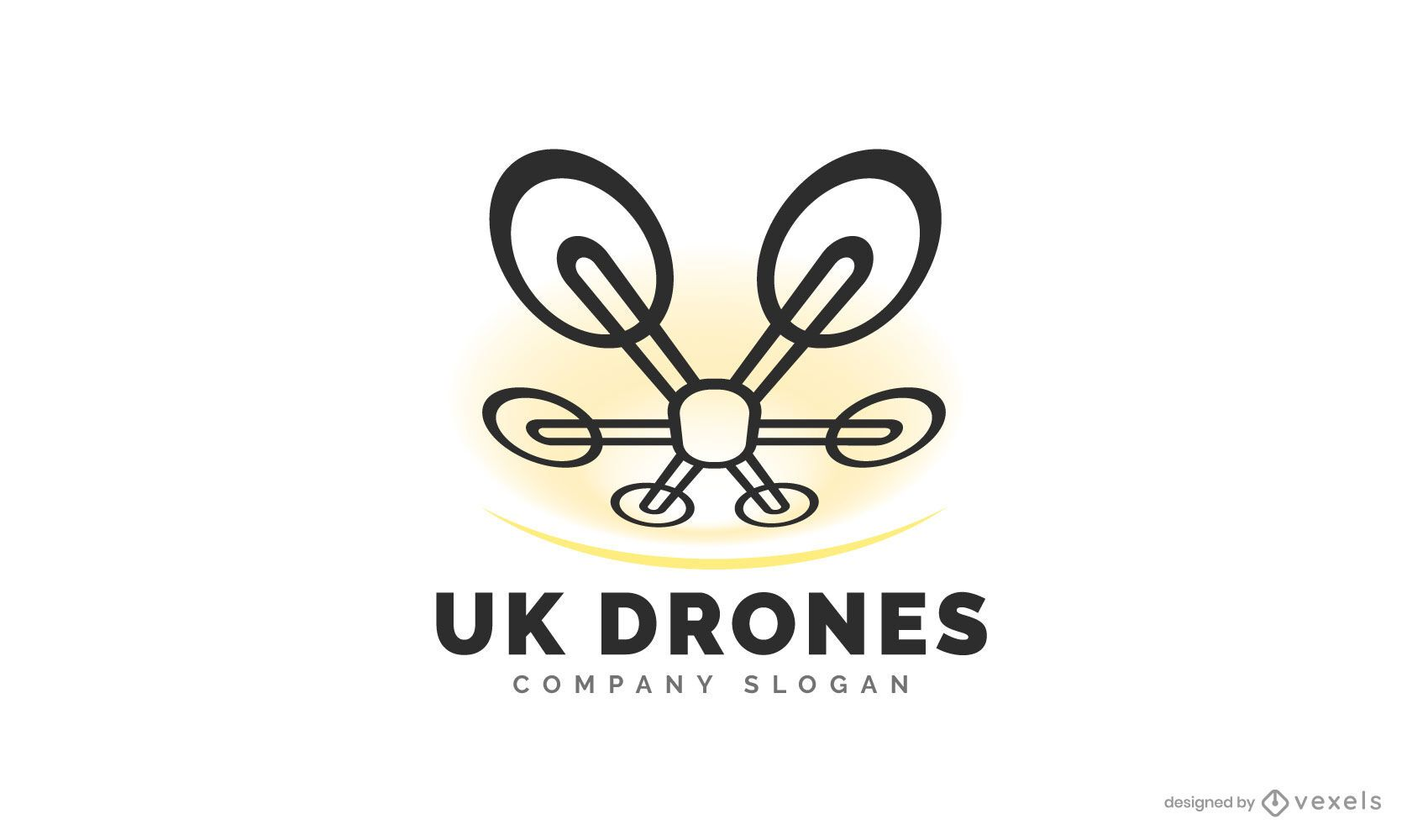 Uk drone logo design