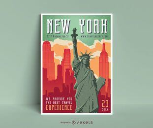 Design de cartaz editável de Nova York