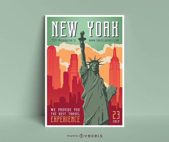 Diseño de carteles editables de Nueva York
