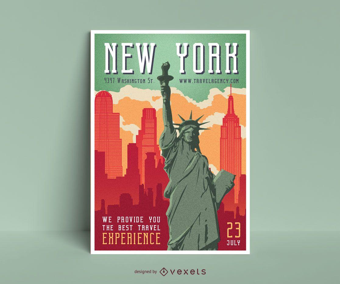 Dise?o de carteles editables de Nueva York