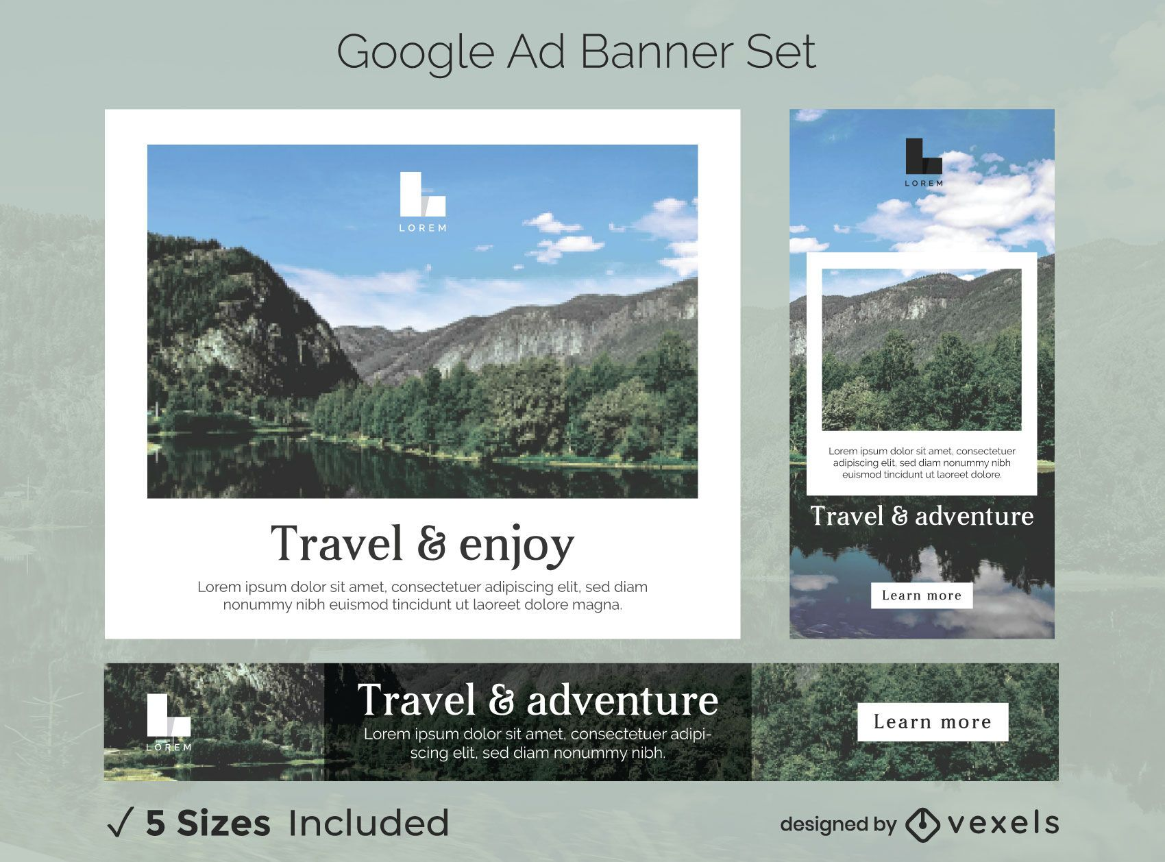 Traveling Photos Google Ads Banner Pack