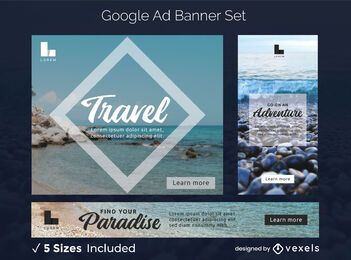Travel ads banner set