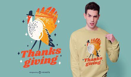 Diseño de camiseta de cita de acción de gracias de Turquía