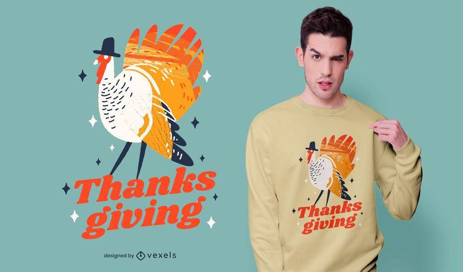 Thanksgiving Turkey Quote T-shirt Design