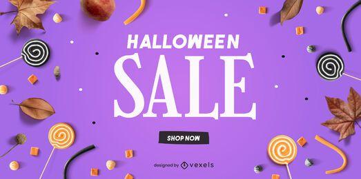 Halloween Verkauf Schieberegler Vorlage