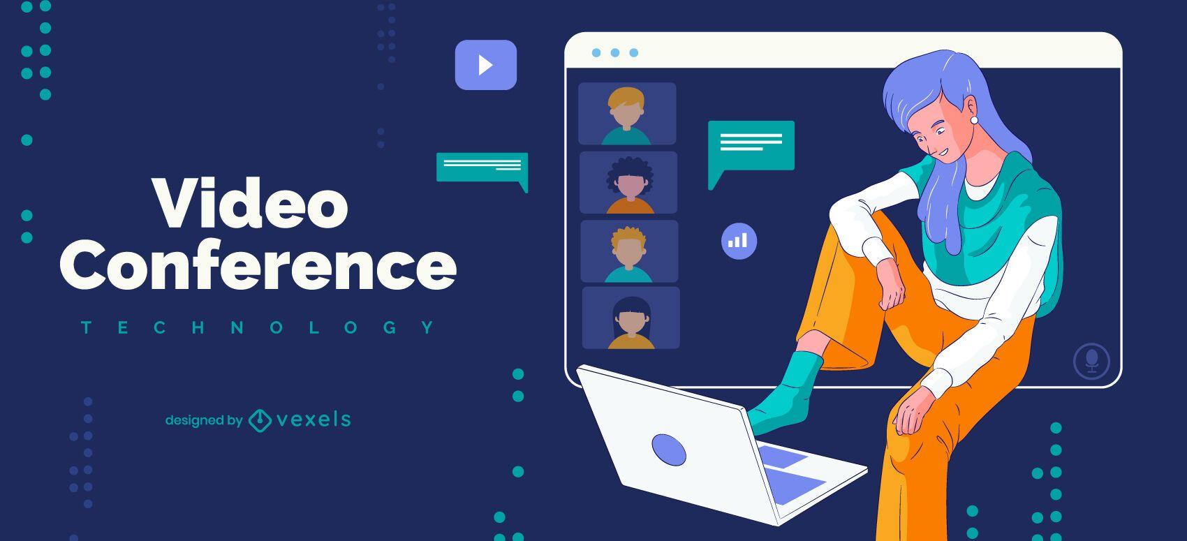 Video conference illustration design