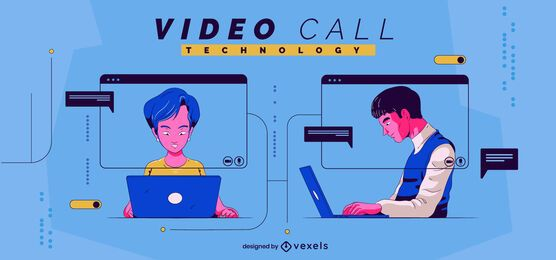 Video call technology illustration