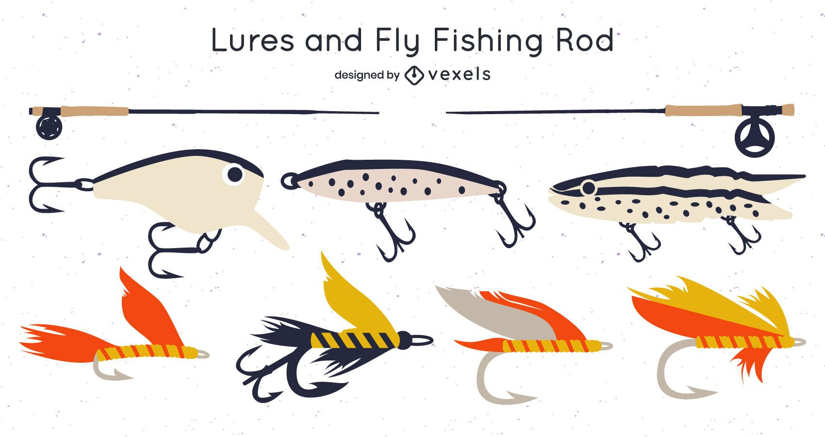 Fishing Rods and Fly Lure Design Pack