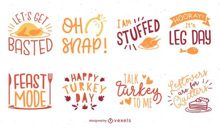 Thanksgiving lettering pack