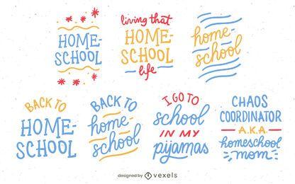 Homeschool lettering set design
