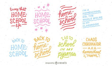 Homeschool lettering set design