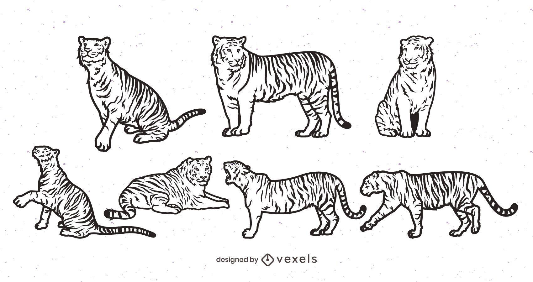 Diseño de escenografía de tigre