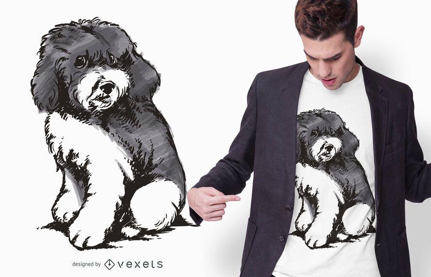 Harlequin Poodle Puppy T-shirt Design