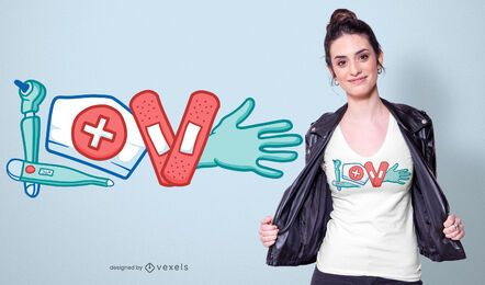 Krankenschwester Liebe T-Shirt Design