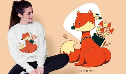 Diseño de camiseta Fox Archer
