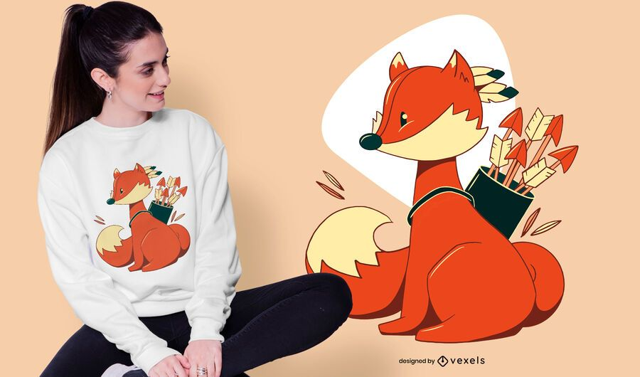 Design de camiseta Fox Archer