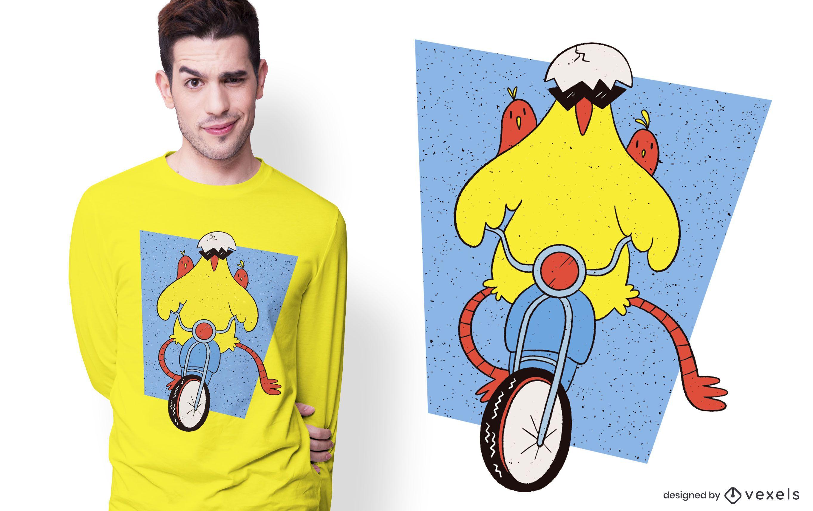 Chicken Scooter T-shirt Design