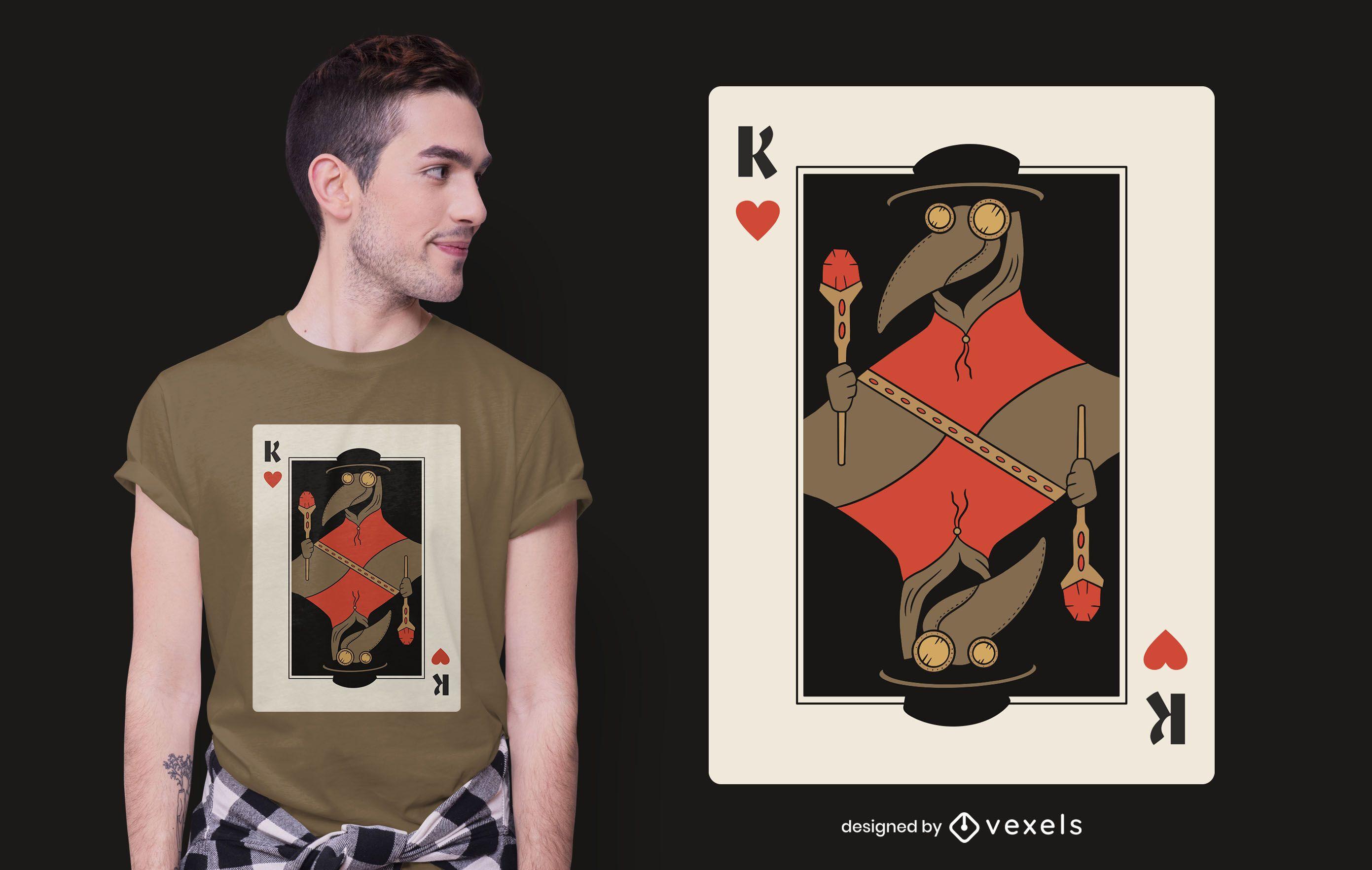 Diseño de camiseta Plague Doctor Card