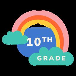 Etiqueta arco-íris do 10º ano
