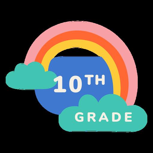 Etiqueta de arco iris de décimo grado
