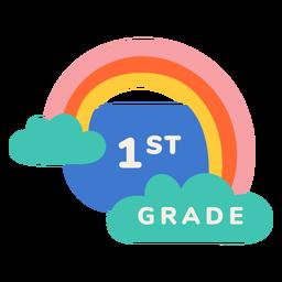 Etiqueta de arco iris de primer grado