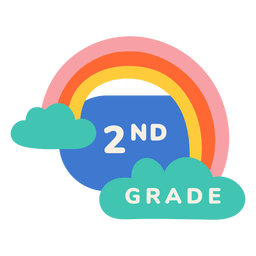2nd grade rainbow label