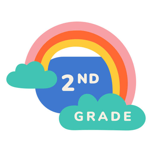 2nd grade rainbow label Transparent PNG