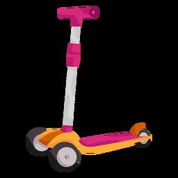 3 wheeled kid scooter illustration
