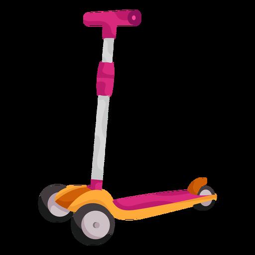 3 wheeled kid scooter illustration Transparent PNG