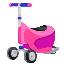 3 wheeled toy scooter illustration