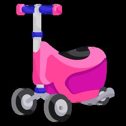 Ilustración de scooter de juguete de 3 ruedas