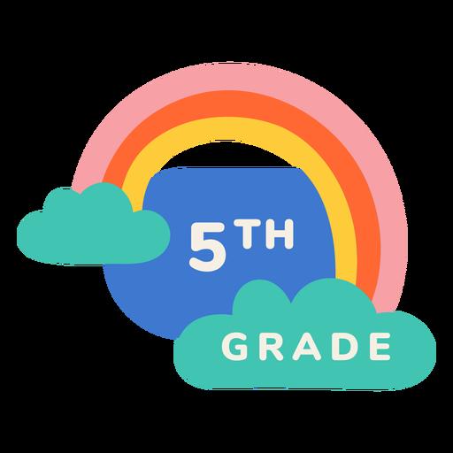 5th grade rainbow label