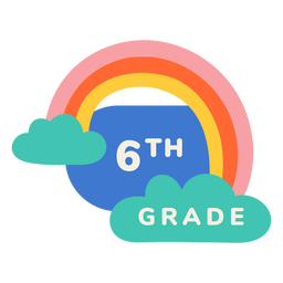 Rótulo de arco-íris da 6ª série