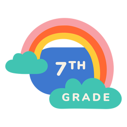7th grade rainbow label