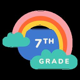 Etiqueta de arco iris de séptimo grado
