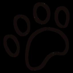 Doodle de impressão de pata de animal
