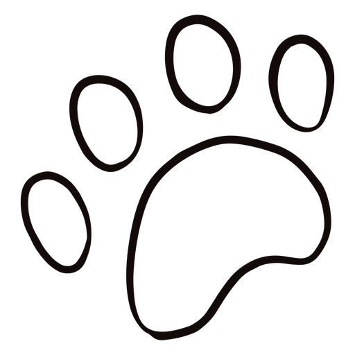 Doodle de impresión de pata de animal