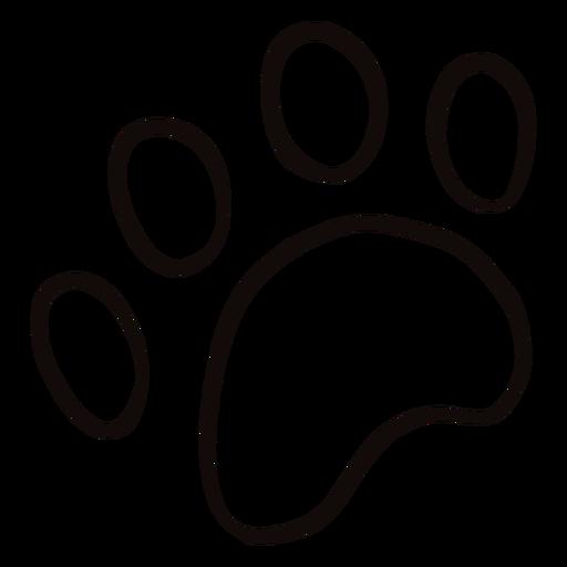 Tierpfotenabdruck Gekritzel