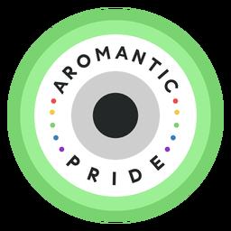 Aromantic pride badge