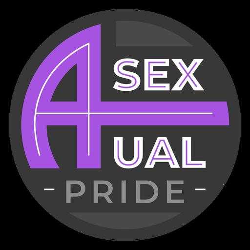 Distintivo de orgulho assexuado Transparent PNG