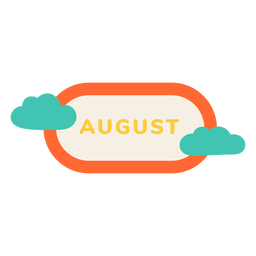 August cloud label