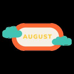 Etiqueta de nuvem de agosto