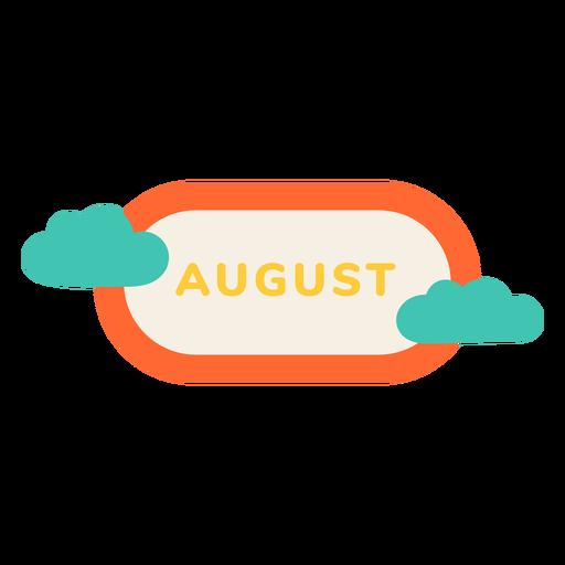 August cloud label